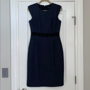 JCrew navy tweed wool dress